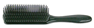 HAIR BRUSH DENMAN #D1 ALL BLACK EXTRA SOFT PIN STYLING HAIR BRUSH