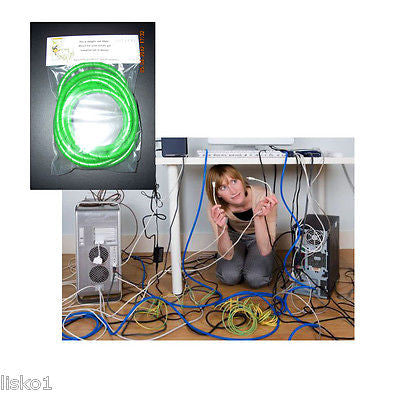 "THE ORIGINAL ""MONKEY CORD DETANGLER SOLUTION"" GREAT FOR COMPUTERS (GREEN GLIT)"