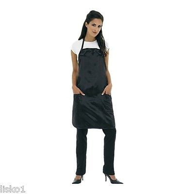 SATIN APRON BETTY DAIN #943  SATIN  HAIR SALON STYLIST APRON  (BLACK)