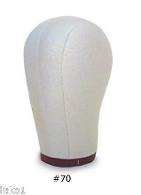 "MANIKIN HEAD CANVAS BLOCK HEAD FOR WIGS AND HATS 22"" DIAMETER WITH MOUNTING HOLE ON BOTTOM"