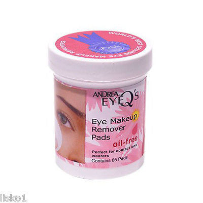 MAKE UP REMOVER ANDREA EYEQ'S EYE MAKE UP REMOVER PADS, OIL FREE, 65 CT