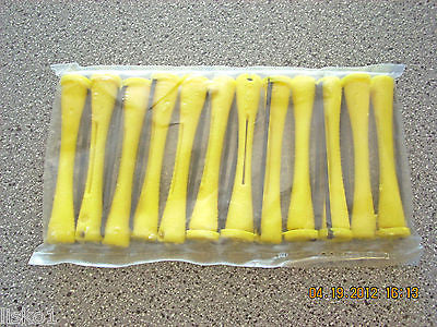 "MARIANNA  5- PKS OF 2-1/2"" LONG YELLOW COLD WAVE HAIR PERM RODS  (12-PER PACK)"