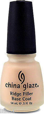 NAIL POLISH CHINA GLAZE RIDGE FILLER NAIL TREATMENT, BASE COAT FOR SMOOTH SURFACE, MANICURE