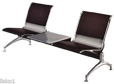 YANAKI  #YA3603 SALON /BARBER AIRPORT STYLE WAITING ROOM BENCH 2-SEAT w/table