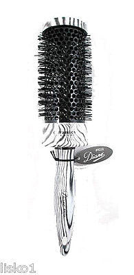 "HAIR BRUSH DIANE #9058  ZEBRA THERMAL 2""  ROUND HAIR BRUSH,     NYLON BRISTLE"
