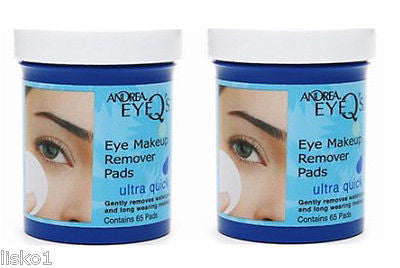 MAKE UP REMOVER ANDREA EYE-Q's_ ULTRAQUICK  MAKE UP  REMOVER PADS_2 JARS, 65 PADS  PER JAR