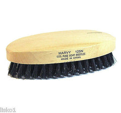 MARVY #125 100% BOAR BRISTLE OVAL MILITARY STYLE HAIR BRUSH, ALL WOOD  12- BRUSH