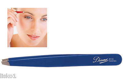 "TWEEZER DIANE #9181 SLANT TIP  4"" LONG  TWEEZER   (blue)"