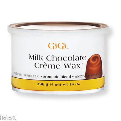 GIGI MILK CHOCOLATE CREME WAX FOR HAIR REMOVAL 1_ 14OZ. CAN HAIR REMOVAL WAX