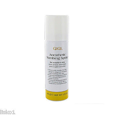 GIGI #0725 SKIN NUMBING SPRAY USED DURING WAXING PROCESS _ 1.5 OZ.