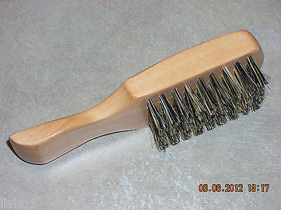 "MINI 5"" SCALPMASTER #SC  FIRM  1-SIDED MEN'S FADE BRUSH, ALL WOOD HANDLE"