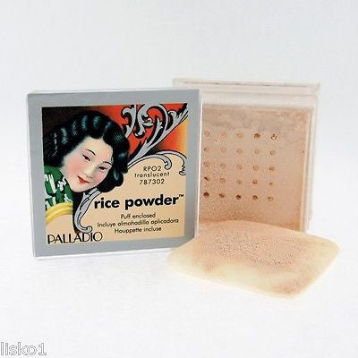 PALLADIO RICE POWDER OIL ABSORBING LOOSE POWDER MAKE UP TRANSLUCENT ORYZA SATIVA