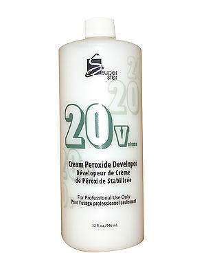 SUPERSTAR 32oz. 20 vol stabilized cream peroxide developer for hair bleaching