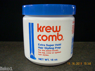 MASTER WELLCOMB KREW COMB SUPER HOLD CONDITIONING MEN'S HAIR CREAM _ 16 OZ. JAR