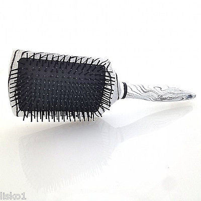 HAIR BRUSH DIANE #9050  ZEBRA PADDLE HAIR BRUSH, 13- ROW  BALL TIP NYLON BRISTLE