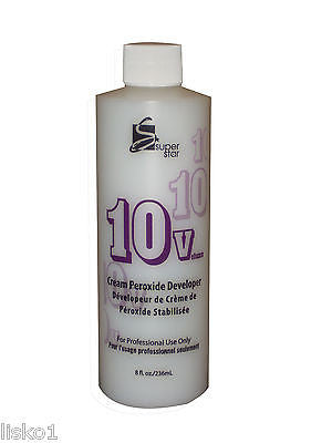 COLOR DEVELOPER 10 VOLUME SUPERSTAR STABILIZED  PEROXIDE CREAM Hair Color  DEVELOPER_8 OZ.
