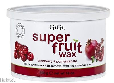GIGI #0357 SUPER FRUIT HAIR REMOVE WAX ( CRANBERRY & POMEGRANATE )  1_ 14OZ. CAN