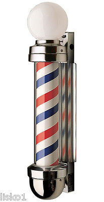 WILLIAM MARVY CO. #405 TRADITIONAL  2 LIGHT BARBER POLE, THE ORIGINAL