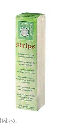 EPILATION STRIPS CLEAN + EASY # 42601 MEDIUM  NON-WOVEN WAX  REMOVER CLOTH STRIPS