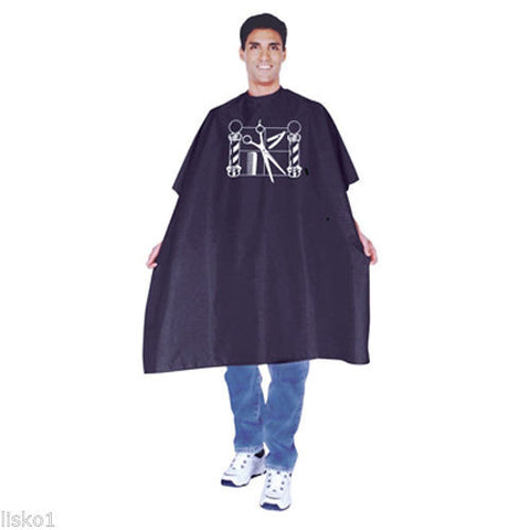 Have one to sell? Sell now Details about  SCALPMASTER #4002 BARBERS NYLON CUTTING,SHAVING CAPE (BLACK) W/BARBER LOGO