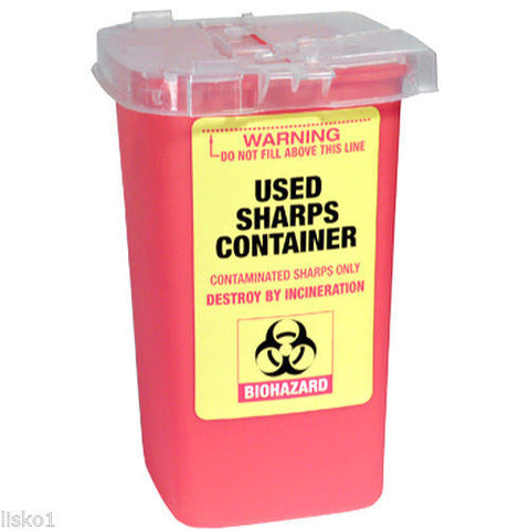 Sharps Container For Disposal Of Contaminated Sharps, Razor Shaving Blades
