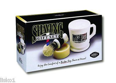 MARVY  SHAVING GIFT SET,  INCLUDES 1-SHAVING  BRUSH , CAKE SOAP & SOAP MUG