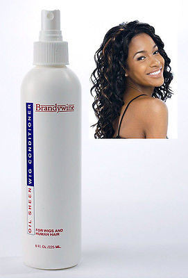 WIG OIL SHEEN BRANDYWINE OIL SHEEN  STYLING-CONDITIONING WIG SPRAY , GERI CURL WIGS  1- 8OZ.