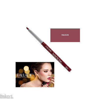 PALLADIO WATERPROOF RETRACTABLE HERBAL LIP LINER RAISIN 11