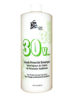 SUPERSTAR 32oz. 30 vol stabilized cream peroxide developer for hair bleaching