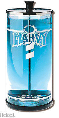 MARVY BARBER  NO.4 GLASS 38 OZ. TOOL SANITIZING  DISINFECTANT JAR
