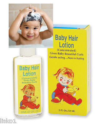 BABY HAIR LOTION GIVES BABY BEAUTIFUL CURLS GIVES FINE HAIR BODY AND FULLNESS