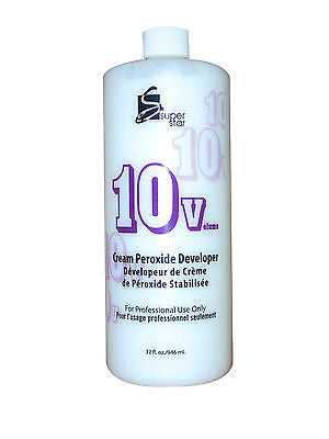 SUPERSTAR 32oz. 10 vol stabilized cream peroxide developer for hair bleaching