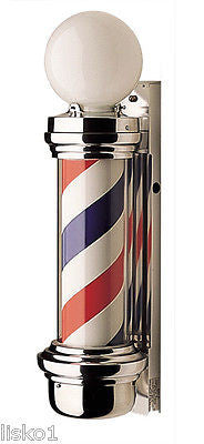 WILLIAM MARVY CO. #55 TRADITIONAL  2-LIGHT  BARBER POLE,  NEW  IN BOX , WARRANTY