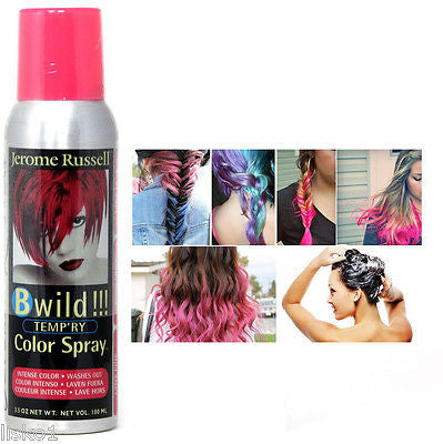 JEROME RUSSELL B WILD TEMPORARY HAIR COLOR SPRAY_LYNX PINK,  3.5 OZ