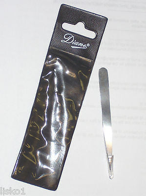 "TWEEZER DIANE #D28 STAINLESS STEEL 3"" POINTED TWEEZER W/CASE"