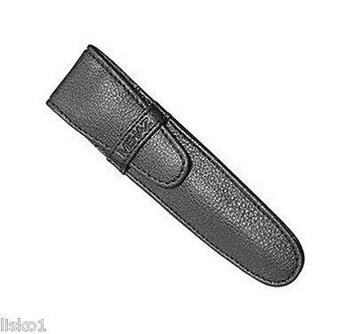 "NEW MEHAZ BLACK LEATHER CASE FOR TWEEZERS, 5"" LONG"