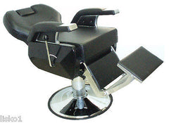 NEW #YA2034   X-TRA WIDE BARBER CHAIR, W/HEAD REST,RECLINES, FLIP FOOT PLATE