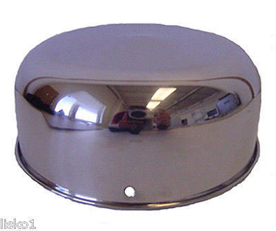 "MARVY  6"" SERIES BARBER POLE STAINLESS STEEL TOP DOME COVER"