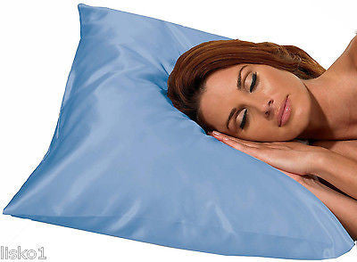 SATIN PILLOW CASE BETTY DAIN #122B  KING SIZE SATIN PILLOW CASE,PROTECT HAIR WHILE SLEEPING (BLUE)