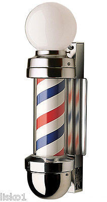 WILLIAM  MARVY CO. #410  TRADITIONAL  2-  LIGHT BARBER POLE, THE ORIGINAL