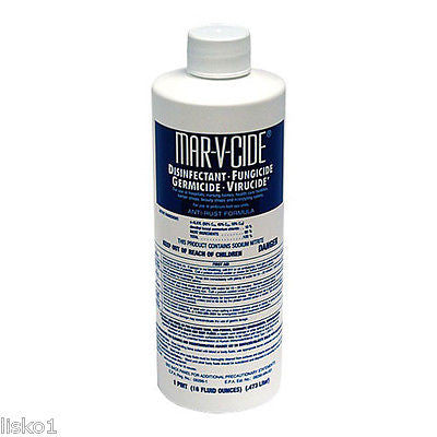MAR-V-CIDE 16 OZ LIQUID DISINFECTANT, CLEANS BRUSHES-COMB-TOOLS-BARBER