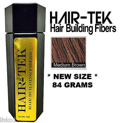 Hair Building Fibers,1_ 84gms_Med Brown *NEW SIZE * Hair Loss Concealer