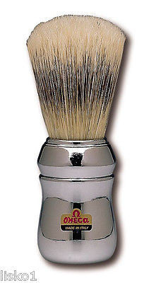 MARVY  #4  SILVER HANDLED  BARBERS SHAVING  MUG BRUSH