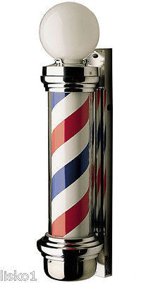 WILLIAM MARVYCO. #77 TRADITIONAL  2-LIGHT BARBER POLE, ORIGINAL MARVY PRODUCT