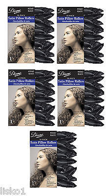 "HAIR ROLLERS DIANE #5042 SATIN SOFT BLACK  1""_ PILLOW  HAIR ROLLERS,50-PK"