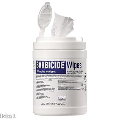 BARBICIDE DISINFECTING TOWELETTS, 160-PRE MOISTENED WIPE, CLEAN SURFACES, TOOLS