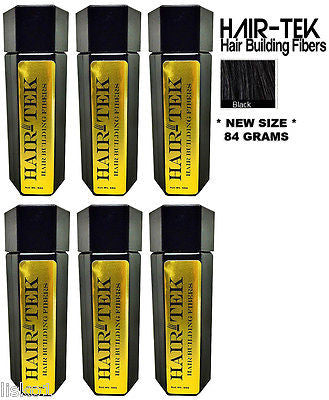 Hair Building Fibers, 6_ 84gms_ Black *NEW SIZE * Hair Loss Concealer