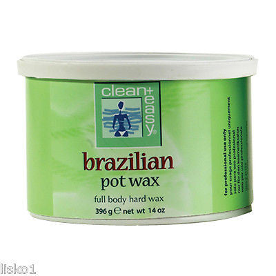 BRAZILIAN POT WAX FOR HAIR REMOVAL BIKINI LINE 14 OZ. CAN
