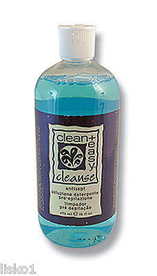PRE WAX CLEAN + EASY  Cleanse pre-waxing antiseptic skin cleanser   16 oz.     LMS