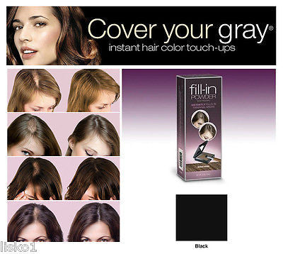 Irene Gari FILL-IN powder, instantly fills in thinning hair areas (BLACK)
